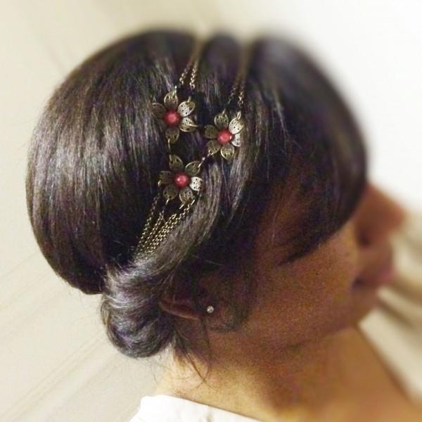 Headband 3 fleurs Bijoux Les Créa de Marie