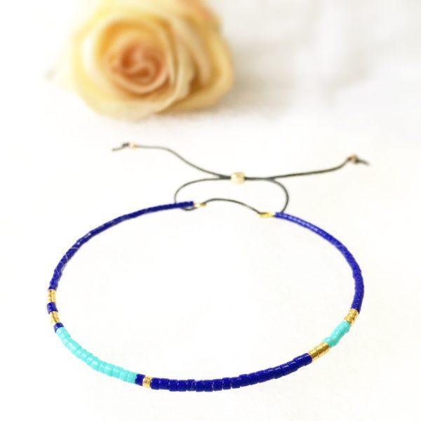 Bracelet Jonc Miyuki Blue Les Créa de Marie