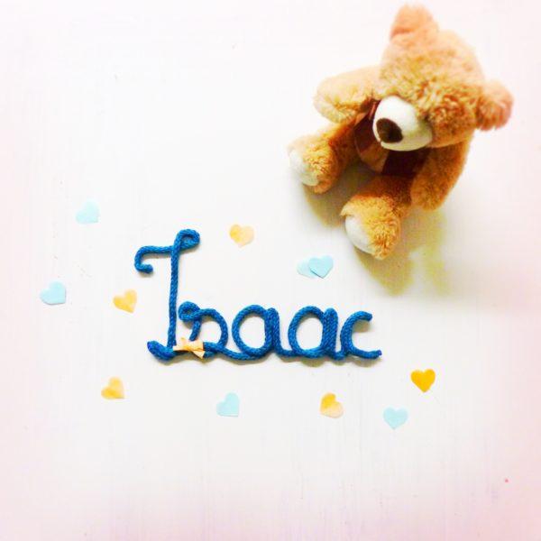 Prenom tricotin Isaac Les Crea de Marie