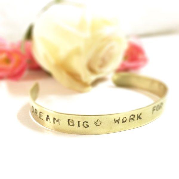 Bracelet jonc message personnalise Les Crea de Marie