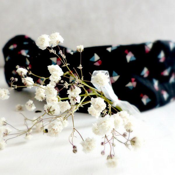 Headband Les Crea de Marie Collection Giulietta Noir et jolis triangles