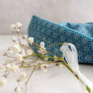 headband fil de fer Les Crea de Marie Collection Giulietta bleu canard