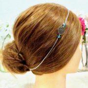 Headband enfant Les Crea de Marie bleu ciel