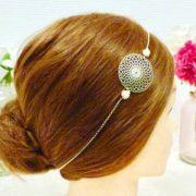 Headband Les Crea de Marie Rosace et fleurs roses