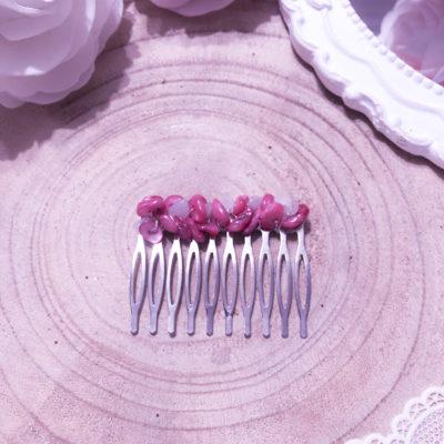 Peigne mariage avec perles naturelles