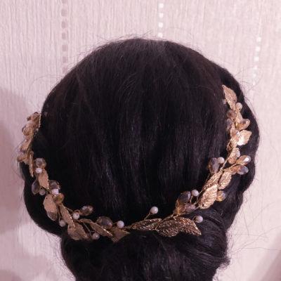 headband mariage doré Les Créa de Marie